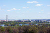 View of Washington DC from the top of Arlington Cemetary