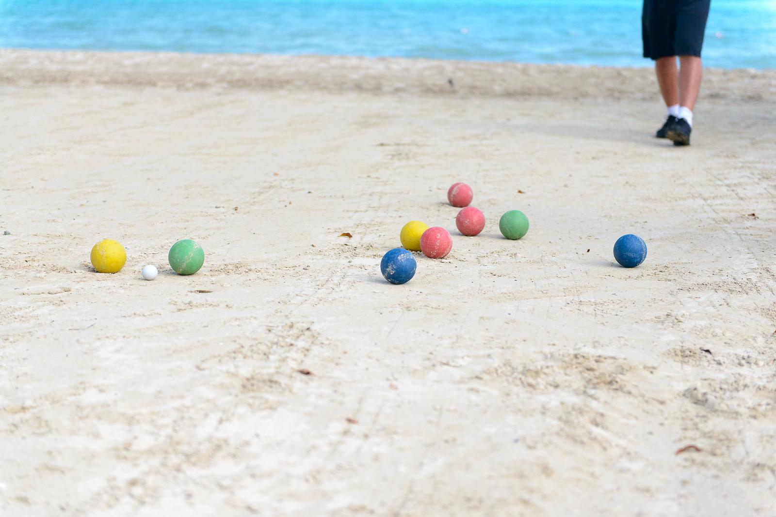 Bocce on the beach!