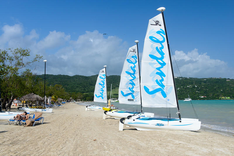 Hobie Cats on the beach