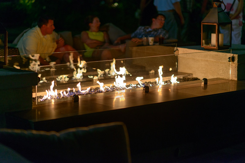The fire pits provided great ambiance for relaxing with a drink or some Blue Mountain coffee