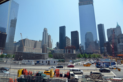 A view of the new parts of the park that will surround 1 WTC.