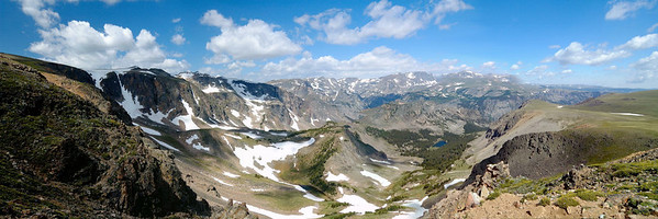 The Absaroka-Beartooth Wildnerness from below Beartooth Pass