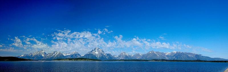 Teton Panorama from Jackson Lake Dam