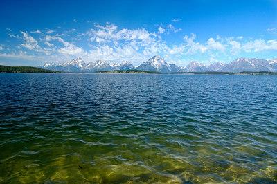 Tetons from Jackson Lake Dam