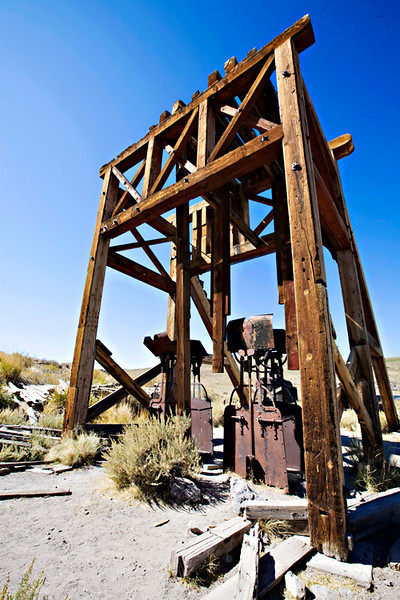 Bodie Ghost Town, old well
