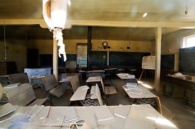 Bodie Ghost Town, classroom