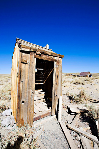 Bodie Ghost Town, outhouse