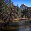 2-21-1 Half Dome and the River from the Bridge