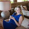 Emily in the lounge at Ras Nungwi.