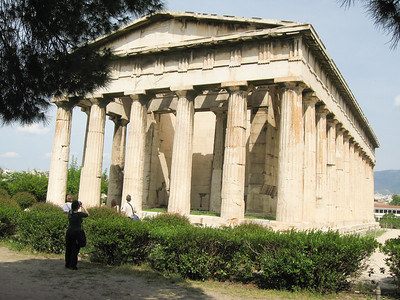 The Hephaisteion. Stands on a west hill overlooking the Ancient Agora.