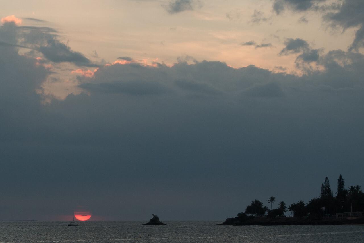 Sunset in Nouméa.