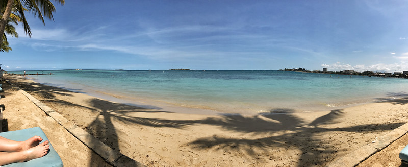 Beachfront of Le Méridien in Nouméa.