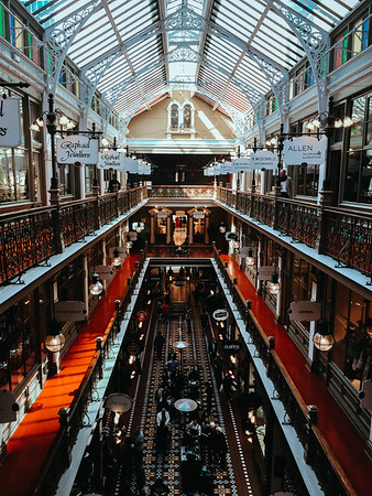 The Strand shopping arcade, founded in 1891.
