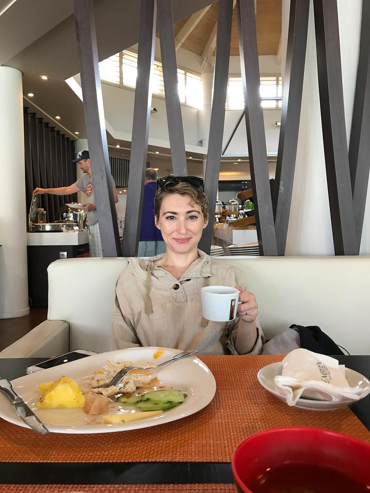 Breakfast at Le Méridien in Nouméa.