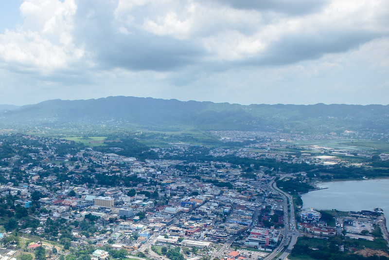 Helicopter photo of Jamaica