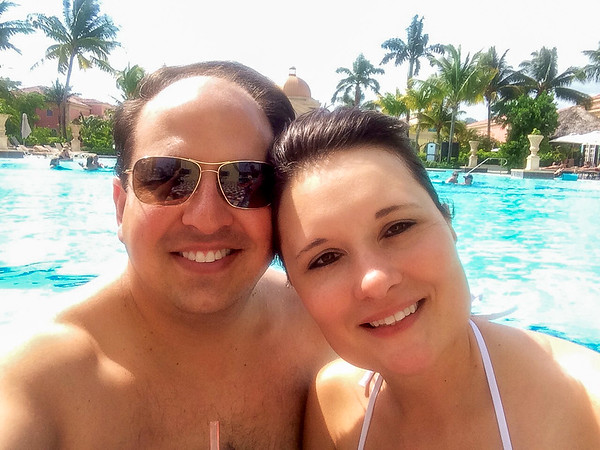Us in the pool on our first day!