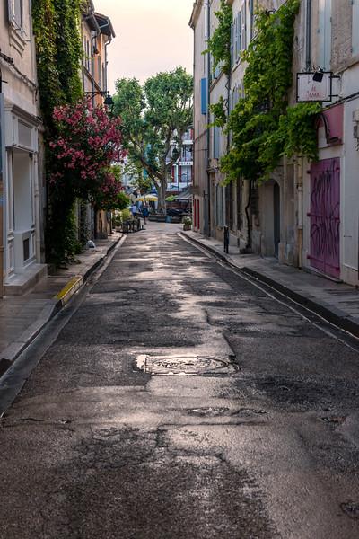 Street in Arles on early morning walk