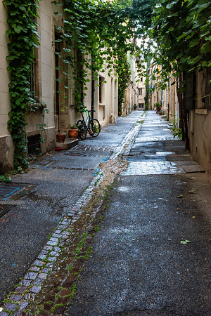 Street in Arles on early morning walk