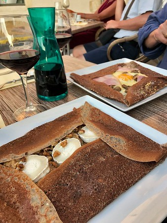 Dinner of crepes in Arles
