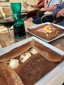 Dinner of crepes in Arles