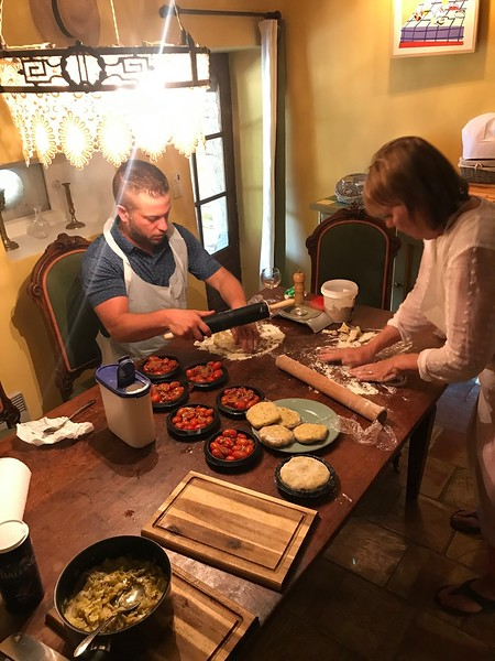 Cooking class at the house in Goult