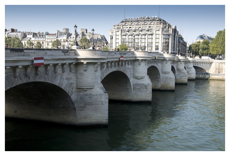One of the many bridges along the Seine.  Pont Neuf dates back to the late 1500's.