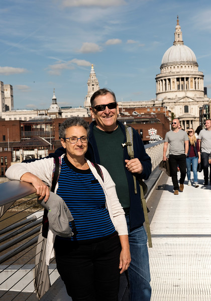 Amy and Wayne on Millenium Bridge