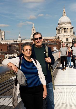 Amy and Wayne on Millenium Bridge