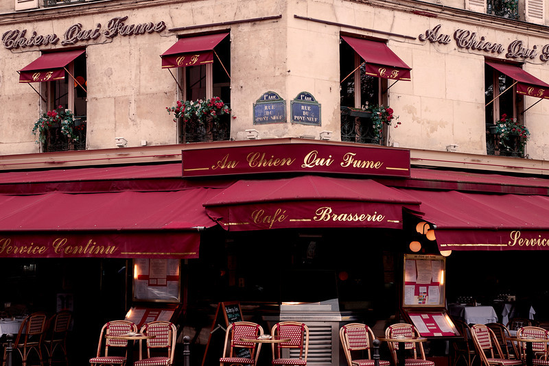 """The Dog Who Smokes"" - this cafe was in a book I just read - ""Lunch in Paris"""