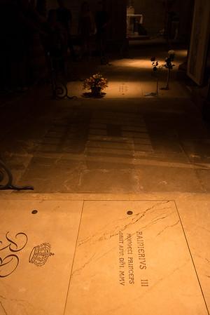 Prince Rainier and Princess Grace tombs