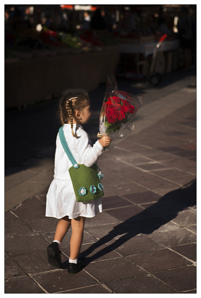 I love this little girl with her bouquet