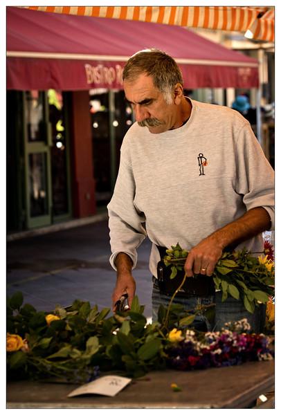 Flower vendor at Market in Nice