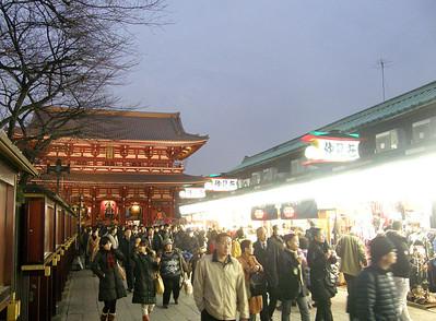 Nakamise-dori and Hozo-mon at the end.