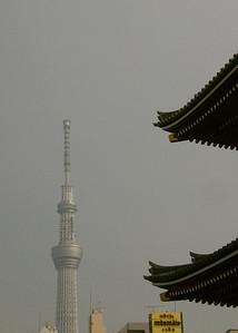 Ancient Senso-ji and modern Sky Tree