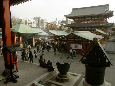 Senso-ji was originally finished in 645. Oldest temple in Tokyo.