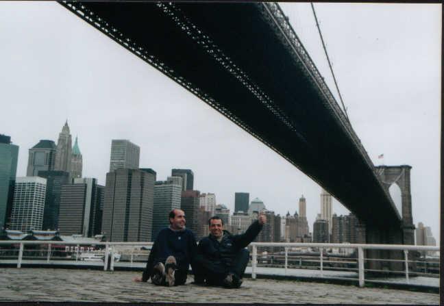 Con Fede en NY. Octubre de 2001.