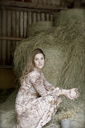 Horse shoe of gold / Fashion fotografering