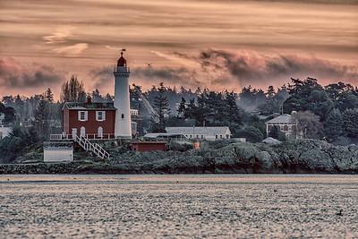 winter morning @ fisgard lighthouse