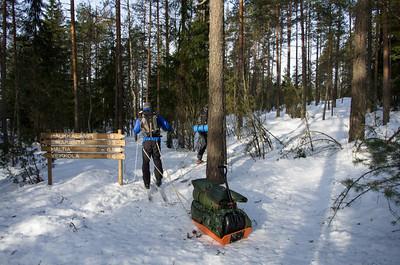 Skiing in Nuuksio 2013