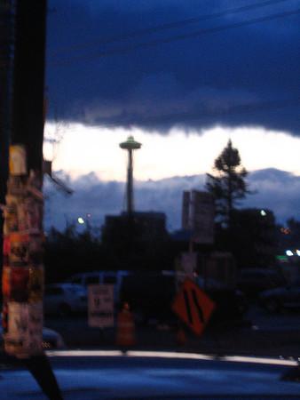 Seattle looking like a watercolor.
