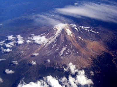 Aerial view of Mt. Rainier.