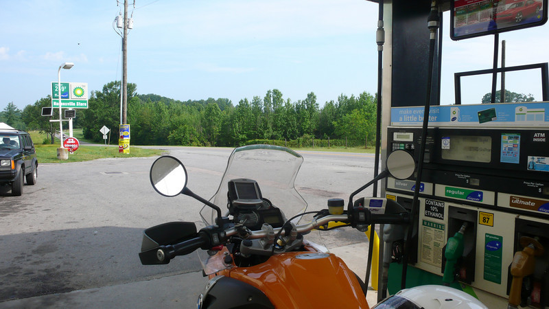 gassing up on 250.