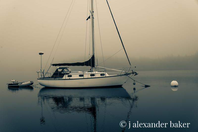 Morning Fog at anchor