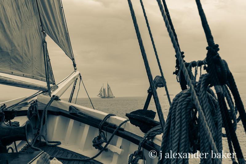 Schooner Heritage off the bow