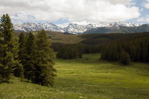 Looking North to the Gore Range along Red Sandstone Drive just outside of Vail, CO