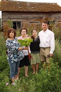 Serious farm family