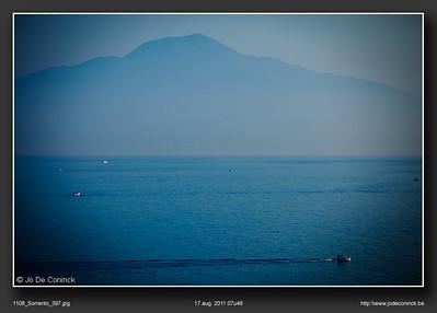 Vesuvius, in de ochtendnevel