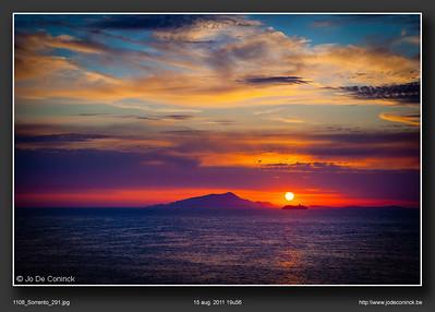 Zonsondergang boven Capri
