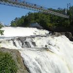 Waterval bij Quebec: Chute Montmorency: de loopbrug