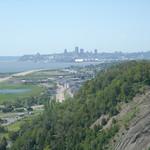 Uitzicht op Quebec
